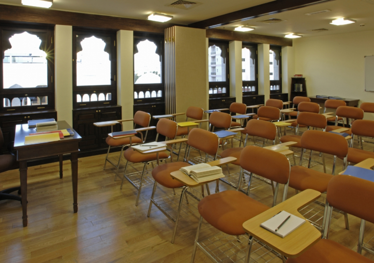 A space for learning in the Ismaili Centre, Dubai.