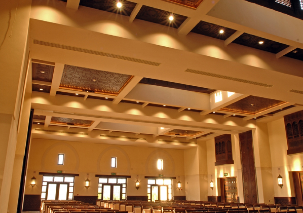 The Social Hall of the Ismaili Centre, Dubai can facilitate many types of gatherings.