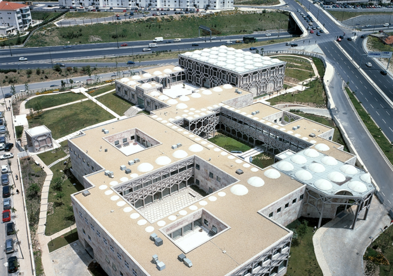 A bird's eye view of the Ismaili Centre, Lisbon.