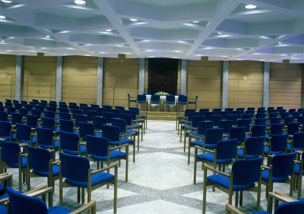 The Social Hall at the Ismaili Centre, Lisbon.