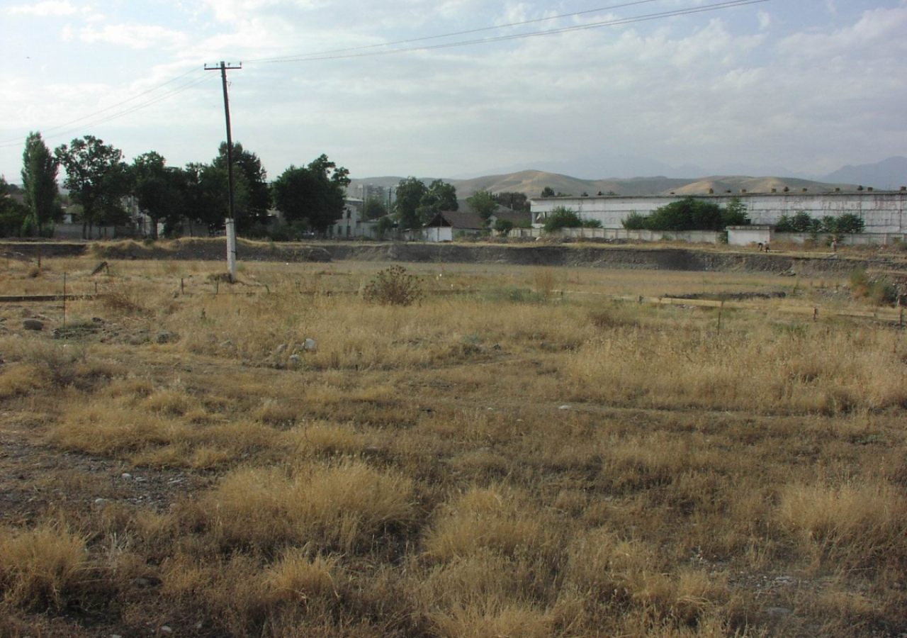 September 2005: A view of the site of the Ismaili Centre, Dushanbe, prior to construction.