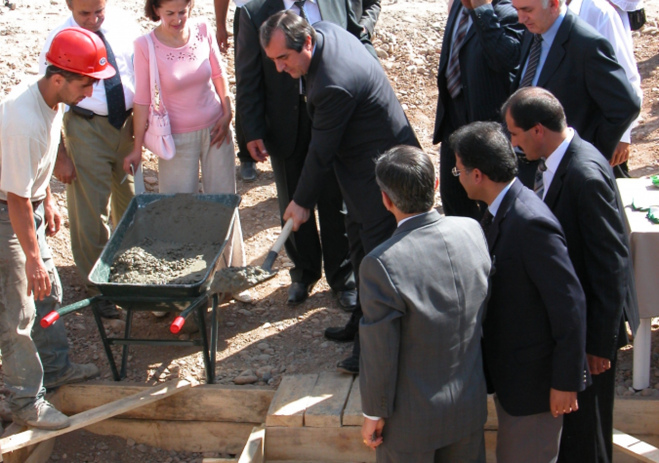 September 2005: The first concrete ceremony was performed by His Worship Mahmadsaid Ubaidulloev, the Mayor of Dushanbe.