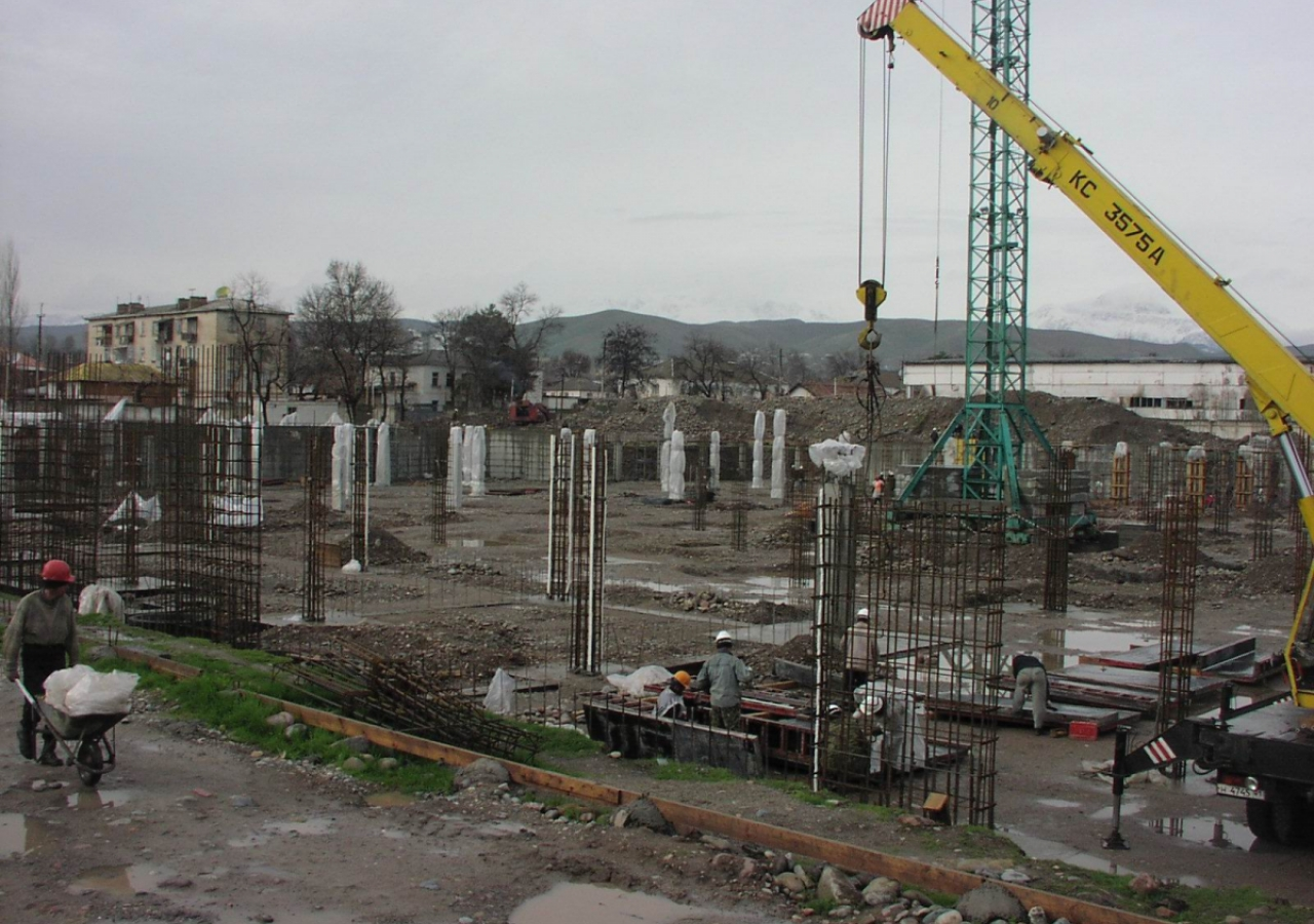 February 2006: A view from the southeast corner of the site, where the Social Hall is to be situated.