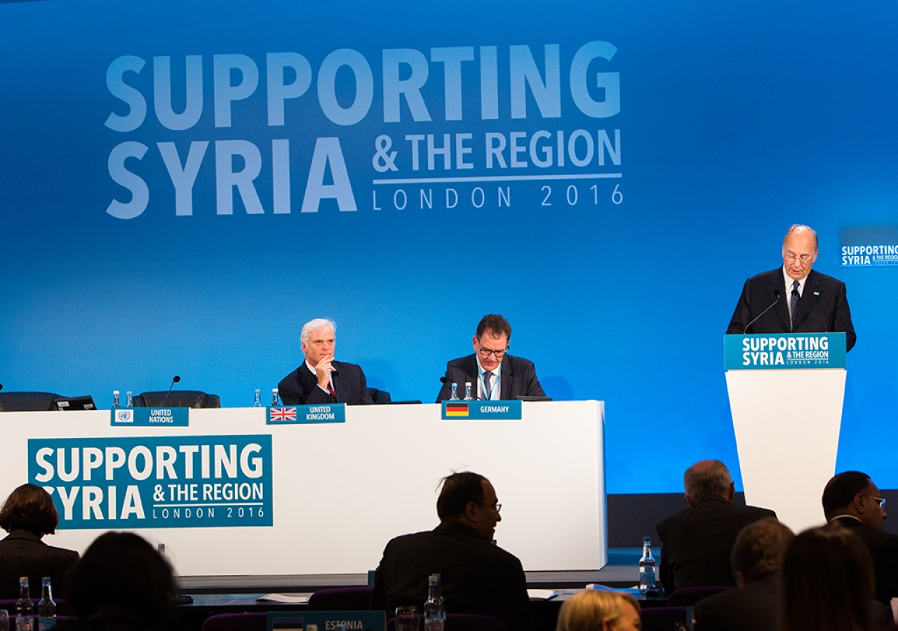 Mawlana Hazar Imam speaking at the Supporting Syria and the Region Conference in London, 4 February 2016.