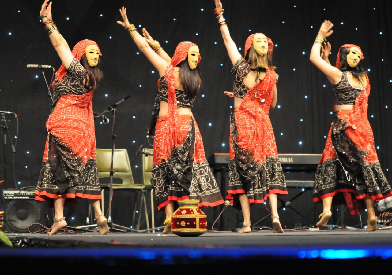 Participants from the Dance competition perform on the Main Stage.