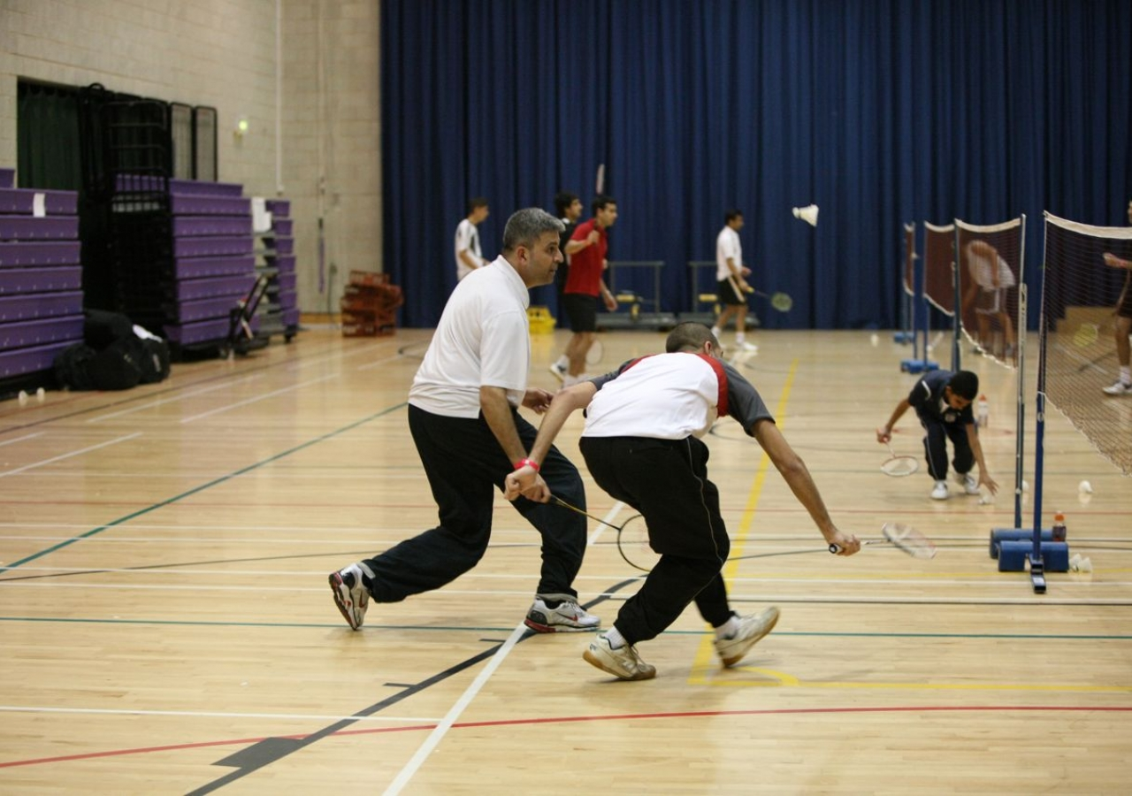 Mens Doubles Badminton