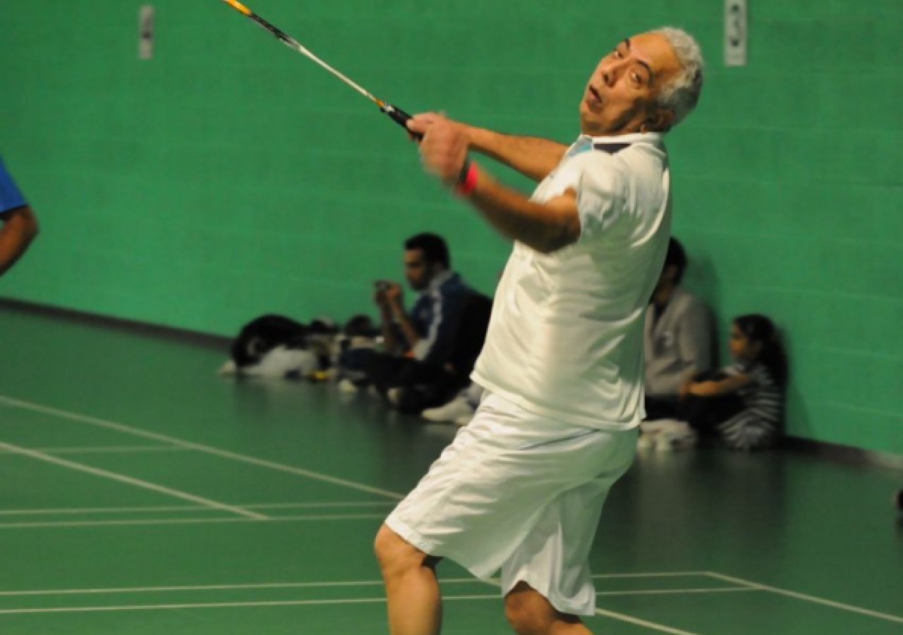 Over-55s Mens Doubles Badminton