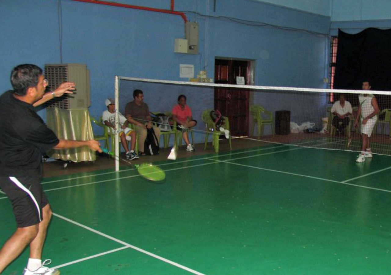 Badminton was one of the centrepiece competitions at Sports Day. Participants had been practicing regularly in the weeks leading up to the event.