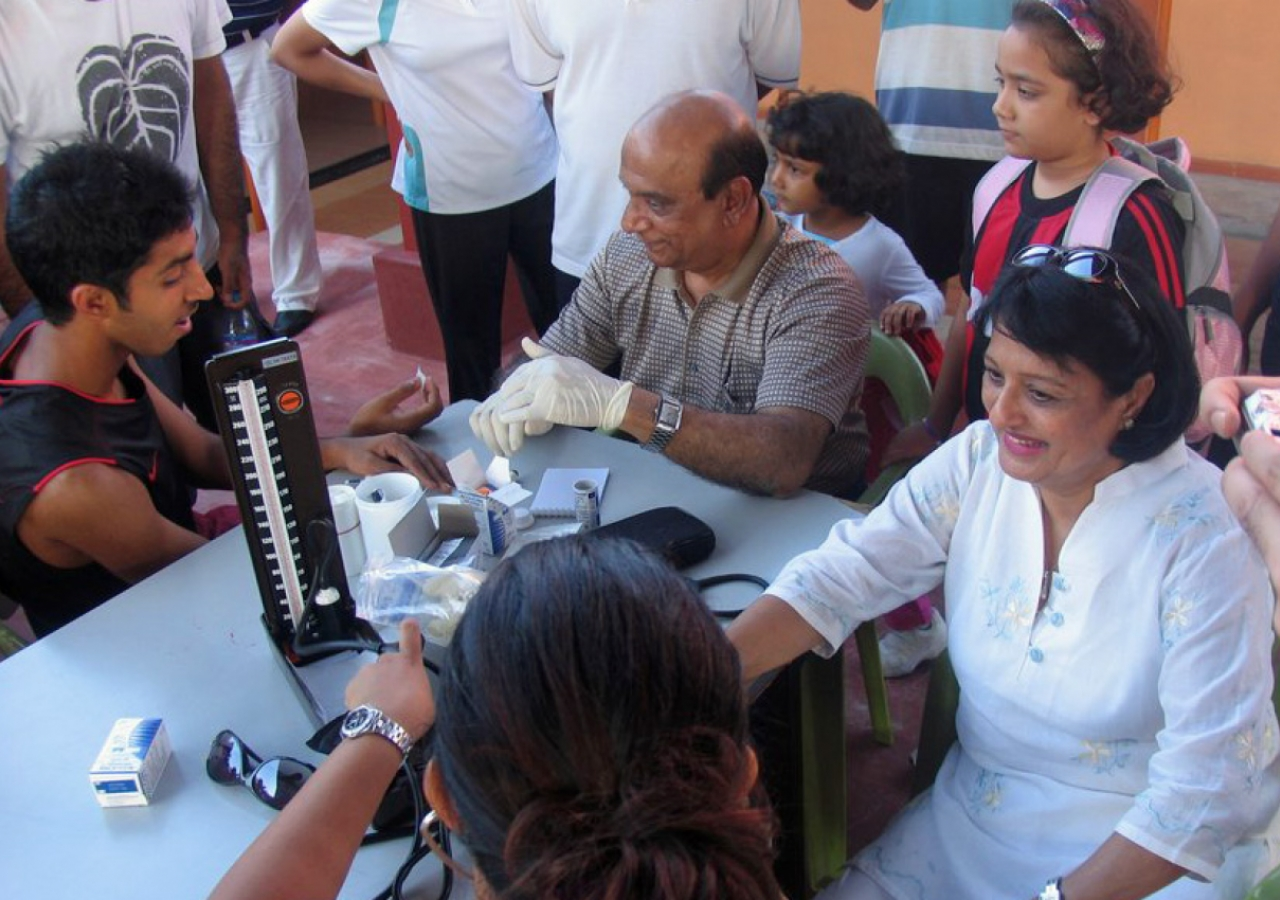 The Ismaili Council Health Portfolio set up a booth where medical professionals from various Jamati centres offered testing as well as information on managing blood pressure and sugar levels.