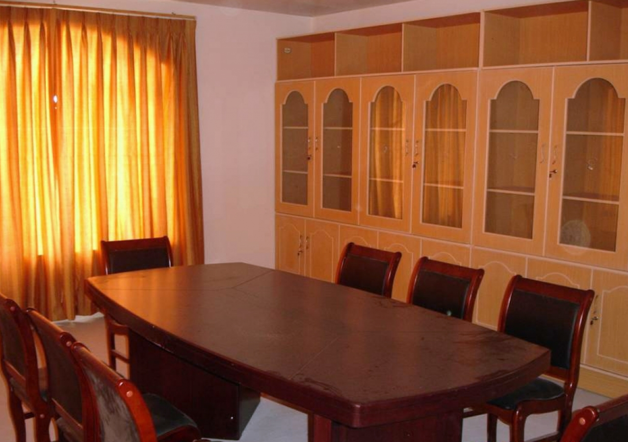 A meeting room at Chamandi Jamatkhana.