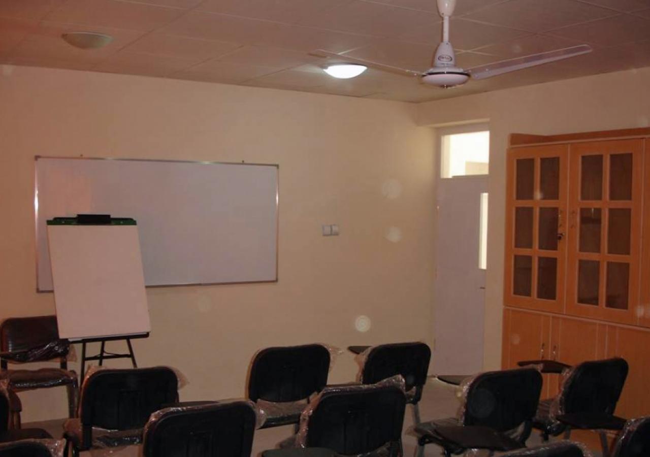 A classroom at Chamandi Jamatkhana.