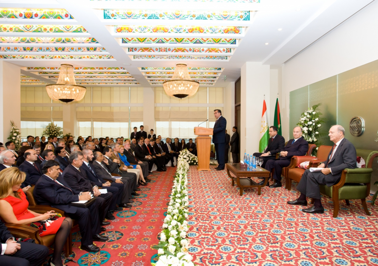 The ceremony marking the inauguration of the Dushanbe Serena Hotel took place in the hotel's Millat banquet room.