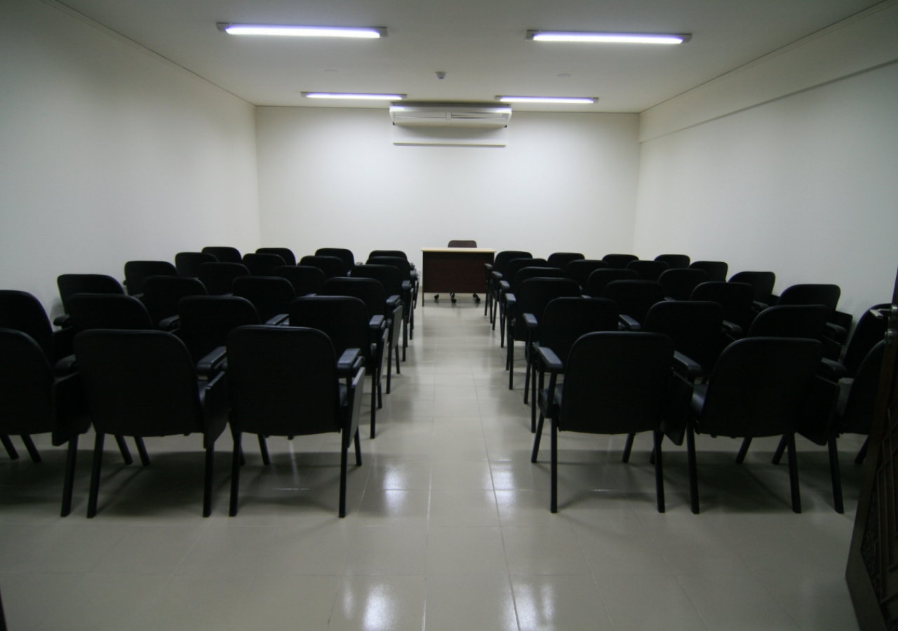 Seminar room at the Dhaka Ismaili Jamatkhana and Centre.