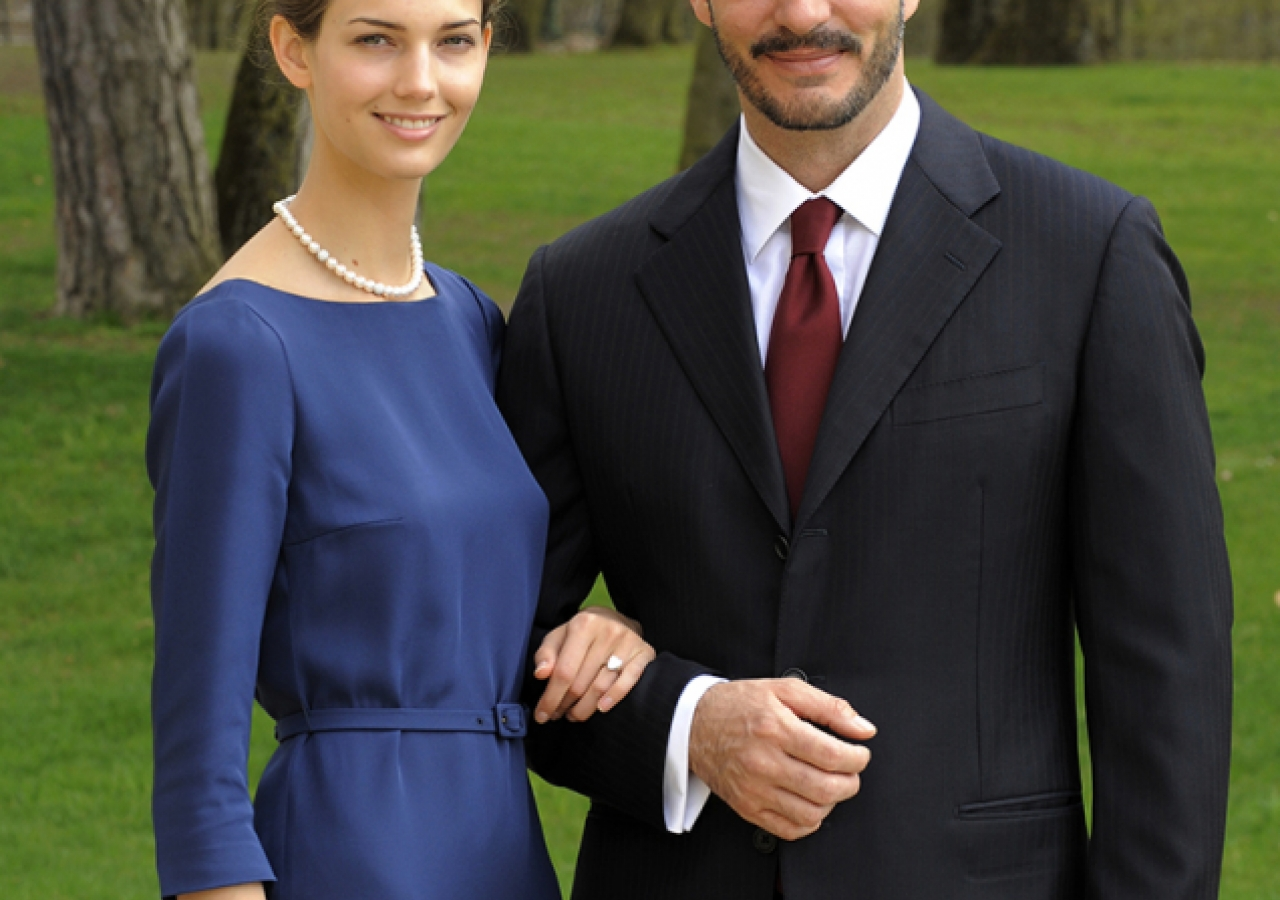 Prince Rahim and Ms Kendra Spears.