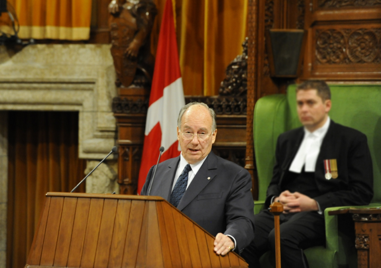 Mawlana Hazar Imam delivers a historic address to a joint session of the Parliament of Canada in the House of Commons.