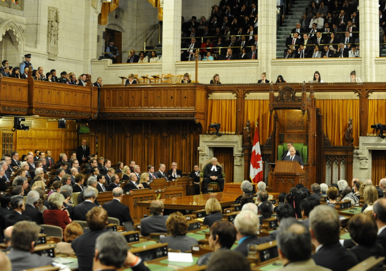 Mawlana Hazar Imam addresses a rare joint session of the Parliament of Canada.