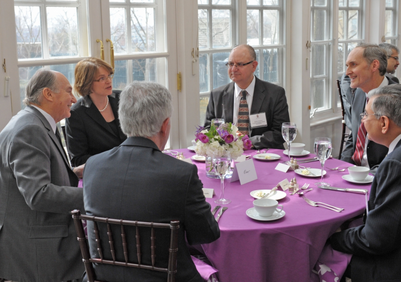 Mawlana Hazar Imam attends a luncheon hosted by Brown University President Christina Paxson.