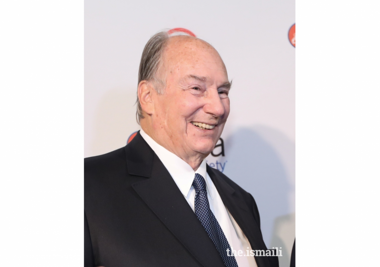 Mawlana Hazar Imam after receiving his Asia Game Changer Lifetime Achievement Award from Asia Society.