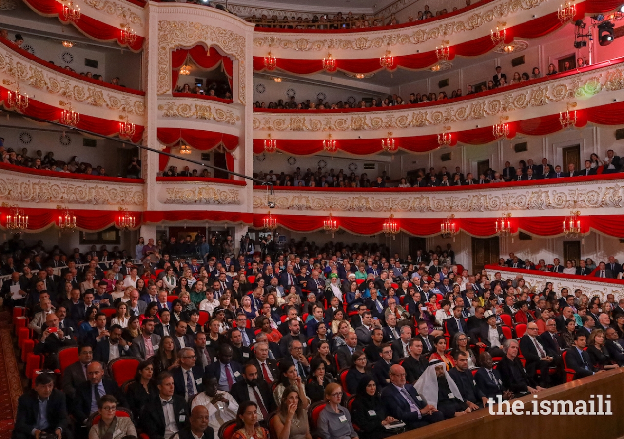 Guests gathered at the Musa Jalil Tatar Academic State Opera and Ballet Theatre in Kazan for the prize-giving ceremony of 14th cycle of the Aga Khan Award for Architecture.