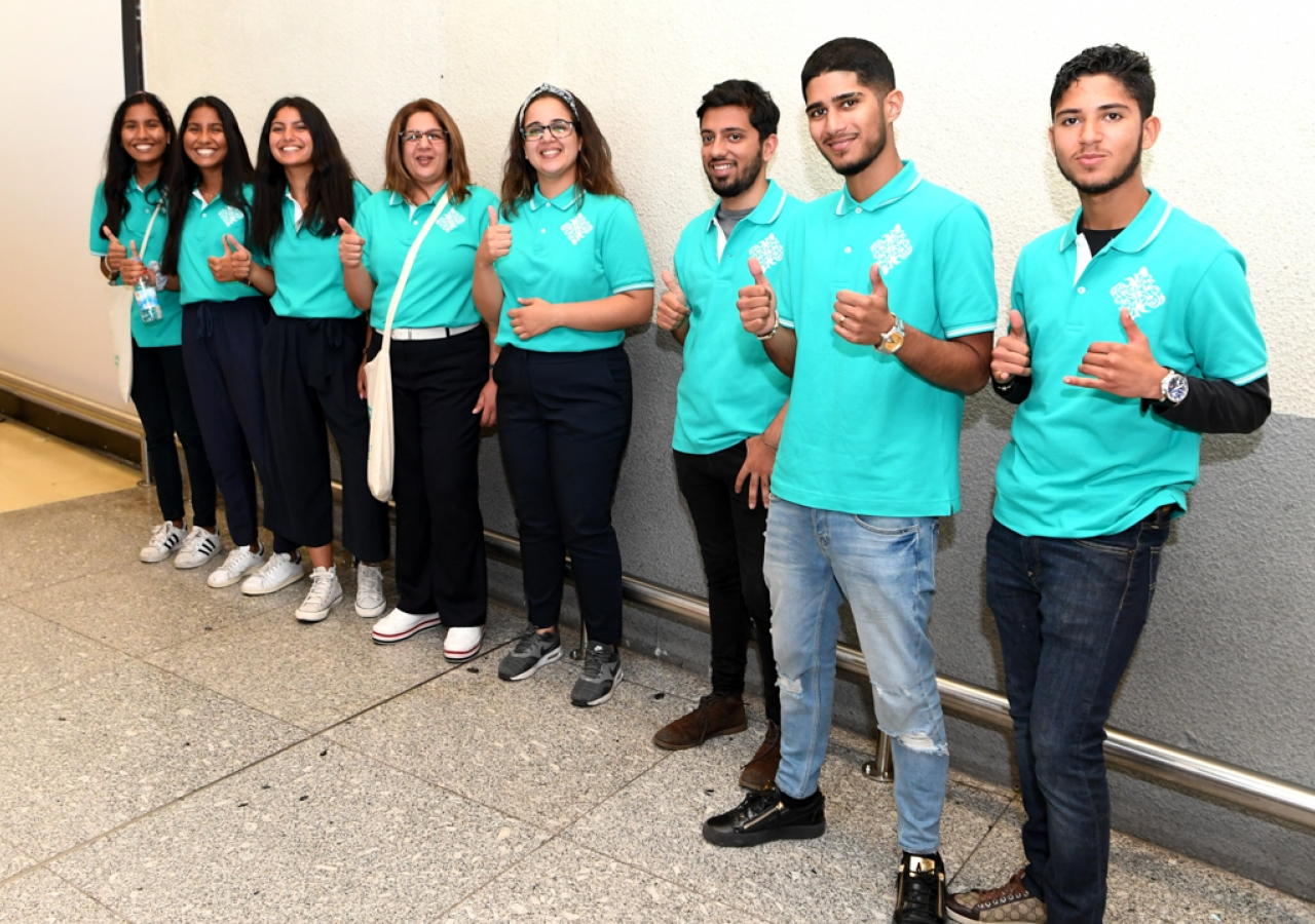 Volunteers are ready to serve at the Diamond Jubilee Celebration - Lisboa 2018.