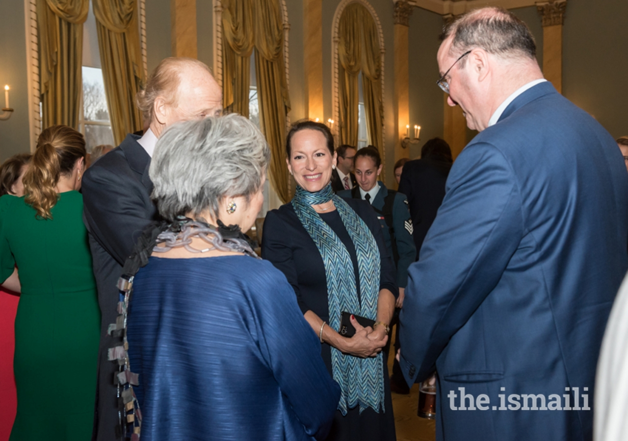 Princess Zahra Aga Khan with former Governor General Adrienne Clarkson and other Canadian leaders at Rideau Hall in Ottawa during Mawlana Hazar Imam's Diamond Jubilee visit to Canada.