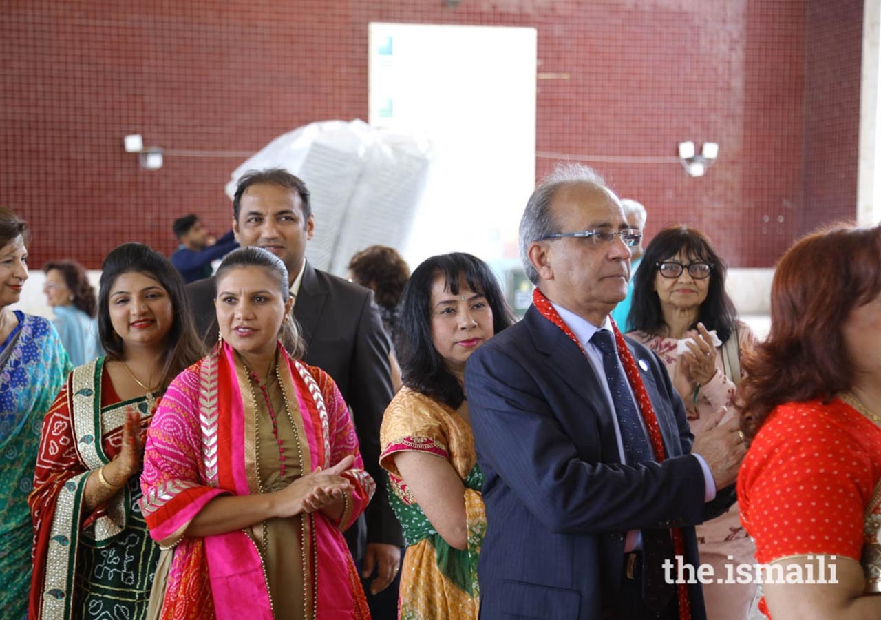 Members of the Jamat performed Dandia Raas  following the Mamero ceremony at the Patio Mela.