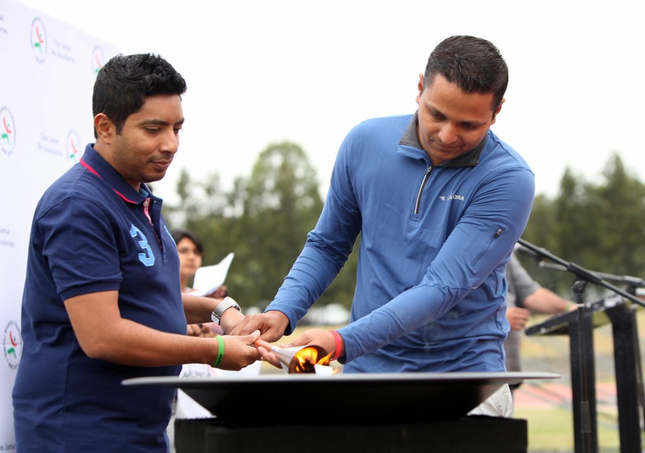 The cauldron is lit, marking the start of the 2016 ANZ Ismaili Sports Tournament. ANZ-IST2016