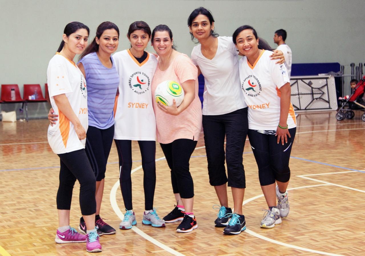 Women's throw ball - Team Sydney. Ismaili Council for ANZ