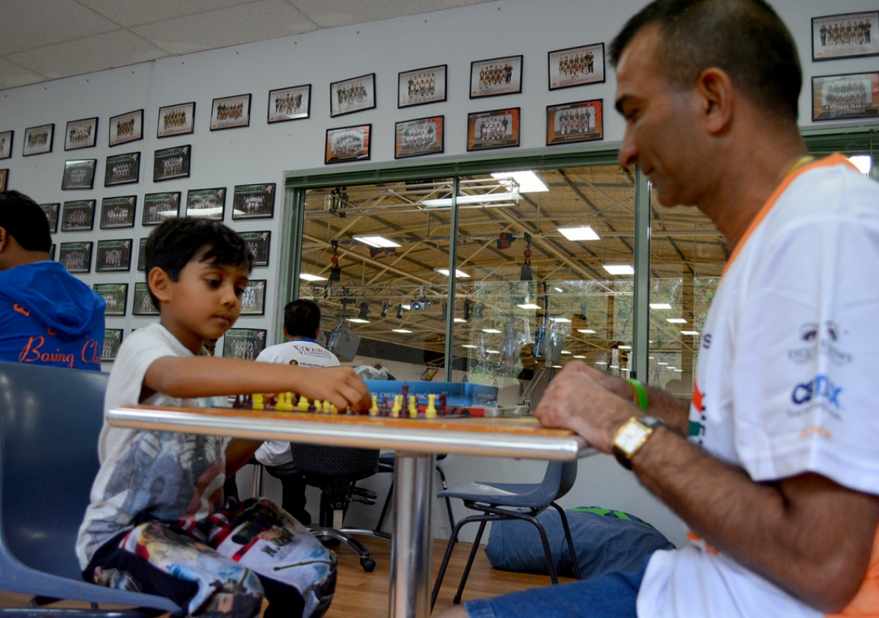 Age is just a number when it comes to the chess competition at Hills Sports Complex in Sydney. Ismaili Council for ANZ