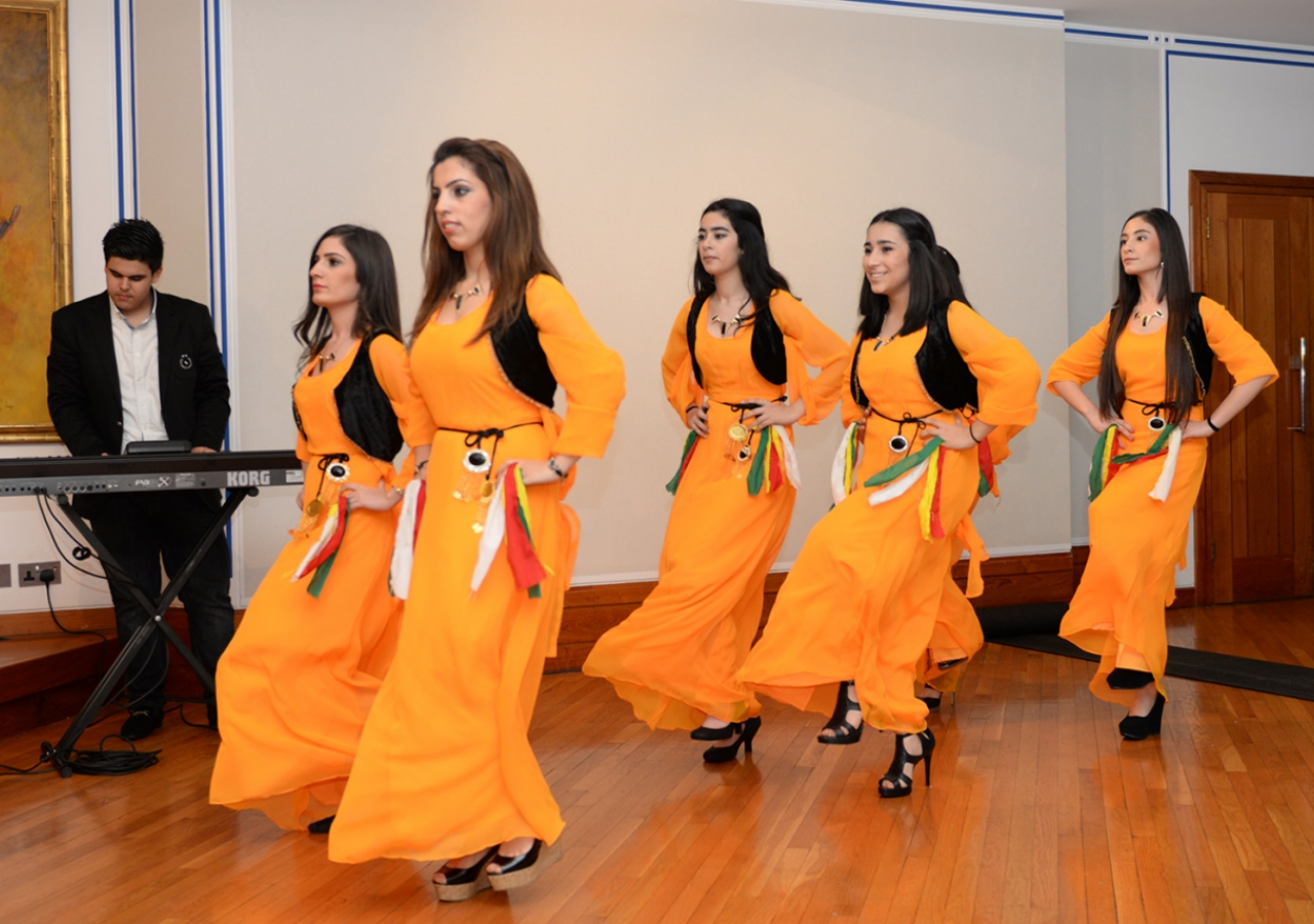 "A traditional Kurdish dance performance in ""Colours and Sounds of Kurdistan"". Safaraj Khorasi"