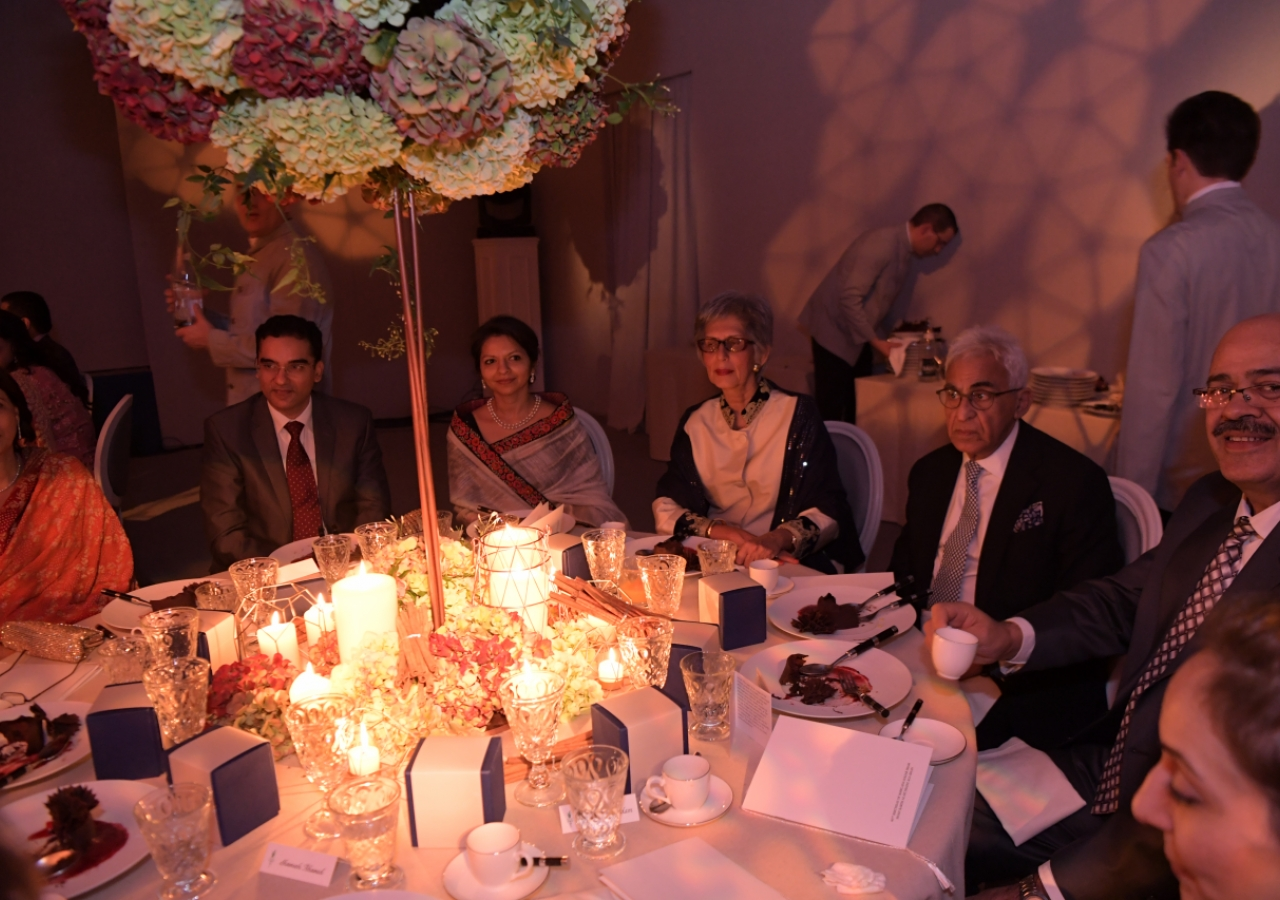Jamati and institutional leaders attend the celebration of Mawlana Hazar Imam's 80th birthday. Photo: Zahur Ramji