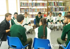 Prince Aly Muhammad meets with students at the Aga Khan Higher Secondary School in Gahkuch, Ishkoman Puniyal, Gilgit-Baltistan