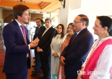 Prince Aly Muhammad meets with leaders of the Aga Khan Development Network and Jamati Institutions at a reception held in his honour, at the Islamabad Serena Hotel