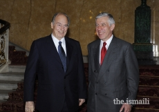 Mawlana Hazar Imam meets with the Secretary of State for Justice, The Lord Chancellor, The Rt Honourable Jack Straw, London, 3 July 2008.