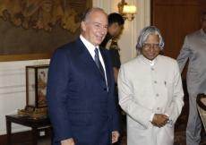 Mawlana Hazar Imam with President A.P.J. Abdul Kalam. (New Delhi, 2006) AKDN / Gary Otte