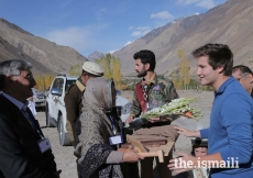 Prince Aly Muhammad is greeted upon his arrival in Chipursan, Hunza, Gilgit-Baltistan.