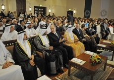 Senior members of the ruling families of the UAE joined Mawlana Hazar Imam, members of the Imam's family, leaders of the Jamat as well as other dignitaries for the Opening Ceremony of the Ismaili Centre, Dubai.
