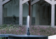 The fountain in the chahar-bagh.