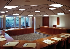 The Council Chamber in the Ismaili Centre, London.