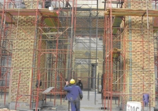 November 2007: Construction of the main portal in the Social Hall progresses.