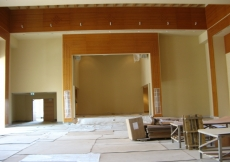 August 2009: The stage space inside the Social Hall.