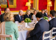 The Rt Hon Penny Mordaunt, Secretary of State for International Development and Minister for Women and Equalities, hosted a luncheon in honour of Mawlana Hazar Imam, at which Prince Amyn and Princess Zahra were also present.