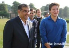 Prince Aly Muhammad with President Ismaili Council for Pakistan, Hafiz Sherali