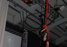 Acrobats performing at the NSF 2010 awards ceremony.