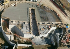 Formation of the floor slab of the Prayer Hall of the Ismaili Centre, Toronto on 12 November 2010.