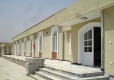 An exterior view of Chamandi Jamatkhana in Kabul, Afghanistan.
