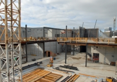 May 2011: A view of the inner structural steel framing of the Aga Khan Museum.
