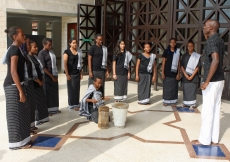Members of the Aga Khan Academy Student Choir performed for Mawlana Hazar Imam during his visit to the the campus.