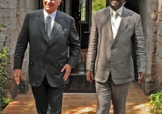 Mawlana Hazar Imam and the Right Honourable Raila Odinga, Prime Minister of Kenya, met together on 23 July.