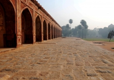 The lower plinth of the restored Humayun's Tomb.